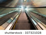 looking along a descending... | Shutterstock . vector #337321028