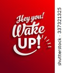 vector motivational text poster ... | Shutterstock .eps vector #337321325