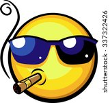 cool emoji wearing sun glasses... | Shutterstock .eps vector #337322426