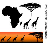 map of africa. africa and... | Shutterstock .eps vector #337322762