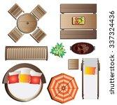 outdoor furniture top view set... | Shutterstock .eps vector #337324436