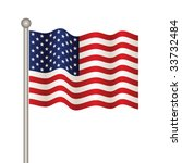 vector usa flag | Shutterstock .eps vector #33732484