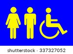 toilet sign  | Shutterstock . vector #337327052