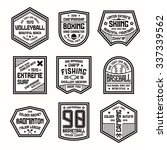 set of sports badges.... | Shutterstock .eps vector #337339562