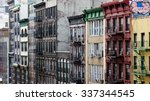 Row Of Buildings On A Block In...