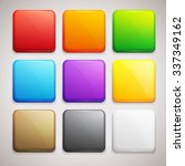 set of colorful buttons. vector ... | Shutterstock .eps vector #337349162