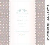 vertical wedding invitation... | Shutterstock .eps vector #337351946