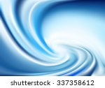 blue twirl background  vector  | Shutterstock .eps vector #337358612