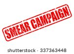 smear campaign red stamp text... | Shutterstock .eps vector #337363448