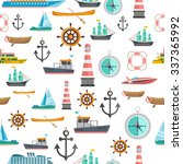 nautical symbols vintage icons... | Shutterstock .eps vector #337365992