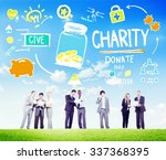 business people discussion give ... | Shutterstock . vector #337368395