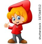 cartoon little girl  | Shutterstock .eps vector #337368512