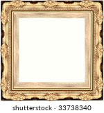 a picture frame on a white | Shutterstock . vector #33738340
