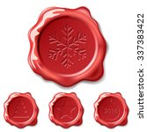 christmas seal wax isolated on... | Shutterstock . vector #337383422