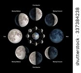 moon phases. elements of this... | Shutterstock . vector #337384238