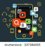 internet commerce illustration. ... | Shutterstock .eps vector #337386005