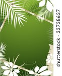 tropical background with bamboo ... | Shutterstock .eps vector #33738637