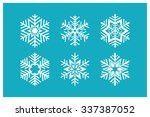 Snowflakes Icons. Vector Set O...