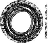 tire track vector round border... | Shutterstock .eps vector #337387646