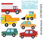 vector set. seamless  border or ... | Shutterstock .eps vector #337387655