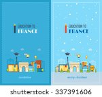 education to france. cute... | Shutterstock .eps vector #337391606