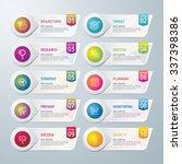 info graphic design template... | Shutterstock .eps vector #337398386
