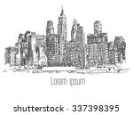 hand drawn city | Shutterstock .eps vector #337398395