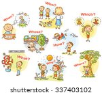 question words in pictures ... | Shutterstock .eps vector #337403102