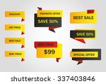 vector stickers  price tag | Shutterstock .eps vector #337403846