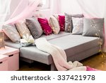 image of large bed with... | Shutterstock . vector #337421978