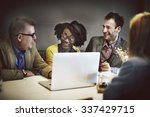 business team meeting... | Shutterstock . vector #337429715