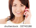 picture of happy woman with... | Shutterstock . vector #33743188