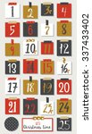 advent calendar. christmas... | Shutterstock .eps vector #337433402