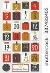 advent calendar. christmas...   Shutterstock .eps vector #337433402