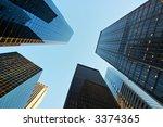 skyscrapers in the downtown... | Shutterstock . vector #3374365