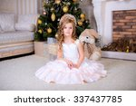 beautiful baby sitting on the... | Shutterstock . vector #337437785