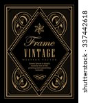 vintage frame label western... | Shutterstock .eps vector #337442618