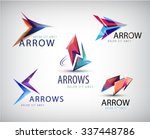 vector set of 3d colorful arrow ... | Shutterstock .eps vector #337448786
