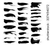 textured black strokes isolated ... | Shutterstock .eps vector #337454072