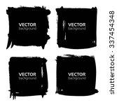 textured black long bannners...   Shutterstock .eps vector #337454348