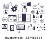 marketing promotion and digital ... | Shutterstock .eps vector #337469585