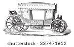 carriage of henri iv  vintage...