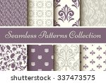 classic collection of seamless... | Shutterstock .eps vector #337473575