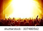 silhouettes of concert crowd in ... | Shutterstock . vector #337480562
