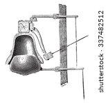 chime damper  vintage engraved...   Shutterstock .eps vector #337482512