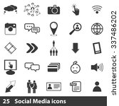 social media icons set | Shutterstock .eps vector #337486202