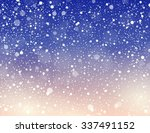 abstract snow theme background... | Shutterstock .eps vector #337491152