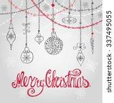 christmas design greeting card... | Shutterstock .eps vector #337495055
