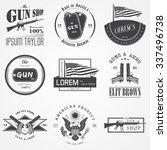 american gun shop set. firearms ...   Shutterstock .eps vector #337496738