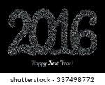 happy new year 2016 celebration ... | Shutterstock .eps vector #337498772